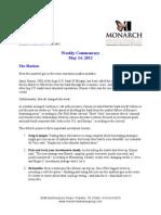 The Monarch Report 5/14/12