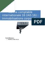 IAS 16 Immobilisations corporelles