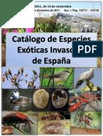 Catalogo de especies Exoticas Invasoras de España-2011