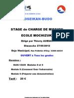 Affiche Stage Charges de Mission AUCH 2
