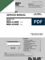 Mitsubishi Evaporadora MSH A18 A24ND