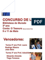 EB1 Sobral Concurso de Leitura Murado 3º ano 2012