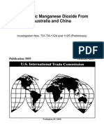 2007 USITC-Electrolytic Manganese Dioxide From Australia and China