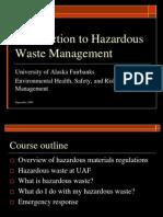 Introduction to Hazardous Waste Management ONLINE