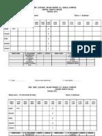Jadual Waktu Kelas Persendirian 2011