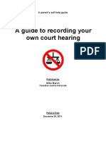 Article Recording Your Own Court Hearing