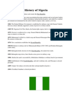 A Possible History of Nigeria Handout