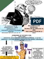 A a Los Gobiernos Panistas Fox Calderon