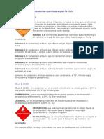 Clasificación de sustancias químicas - calcos