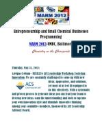 Entrepreneurship & Small Chemical Business Programming at MARM