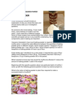 Background Research Paper Example - Baking Powder