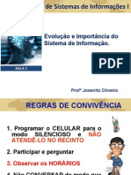 Aula_02_Evolucao e Import an CIA Do Sistema de Informacao