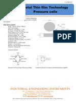 IEICOS Pressure Cell Catalog Datasheet 2011