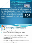 Recording Procedures-Barangay Funds