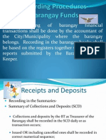 Recording Procedures-Barangay Funds