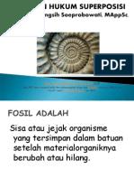 2. Fosil , Hukum Superposisi Waktu Geologi