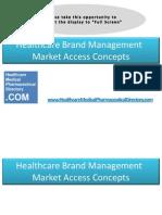 Healthcare Brand Management Market Access Concepts