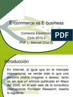 1E Commerce vs E Business
