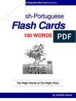 Portuguese and English @ Words With Examples Flashcards