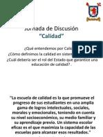 Jornada de Discusión II - Calidad