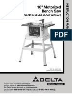 Model 36-540 Table Saw