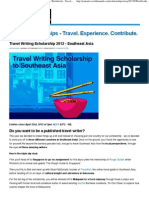 Southeast Asia - Worldwide - Travel Scholarships - Travel_ Experience_ Contribute