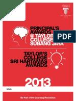 Application Form - Principal's Awards 2013 & TCSH Awards 2013