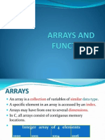C Arrays Function