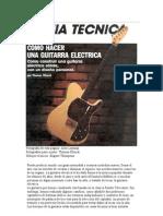 construir una guitarra eléctrica