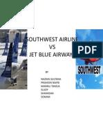 South West Airline vs Jet Blue Airways Ppt 1 V