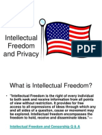 Intellectual Freedom and Privacy