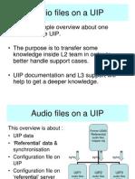 UIP Audio Files Overview