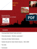 Indian Textile Trade -Golden Period- March 2012