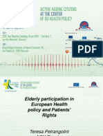 6th European Patients' Rights Day - T. Petrangolini