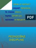 3 Pedagoške  discipline
