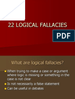 22 Logical Fallacies