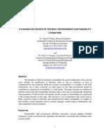 Built Environment Parameter