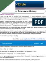 Laplace Transform History