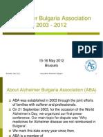 Ilieva Alzheimer Bulgaria Association  - European Patients' Rights Day