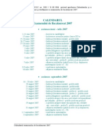 Calendar Bac 2007