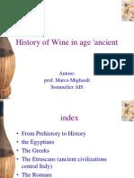 History of Wine