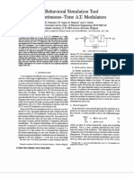 A Behavioral Simulation Tool for Continous Time Delta Sigma Modulators