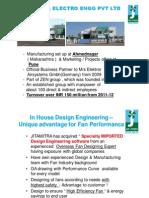 Jitamitra_Centrifugal Fan Manufacturing Presentation-2012