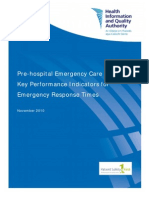 Pre Hospital Emergency Care KPIs