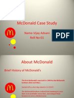 MC Donald Case Study