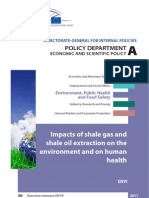 Impacts of Shalegas on Environment and Human Health Europe Gaz 1