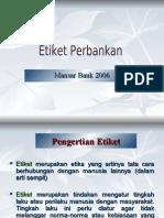 Etiket Perbankan