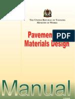 Tanzania Pavement and Materials Design Manual 1999 Chapter 1