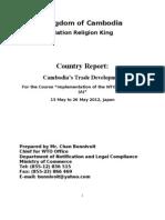 Country Report for Seminar in JICA, Tokyo