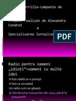Radio Guerrilla-Campanie de Promovare